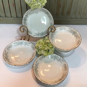 Norleans China Theresa Fruit Dessert Bowl Set of 4